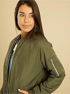 Manteau, veste taille xl - Bomber satiné zippé
