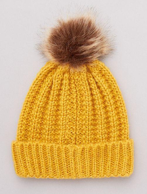 Bonnet à pompon                                                                 jaune
