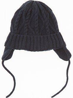 Fille 0-36 mois Bonnet cache-oreilles en tricot