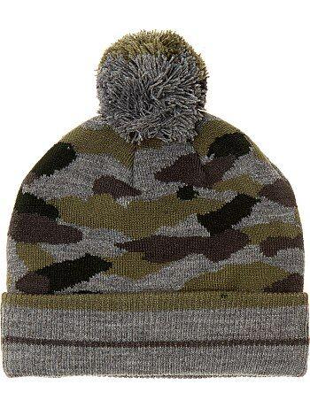 Garçon 3-12 ans - Bonnet camouflage - Kiabi