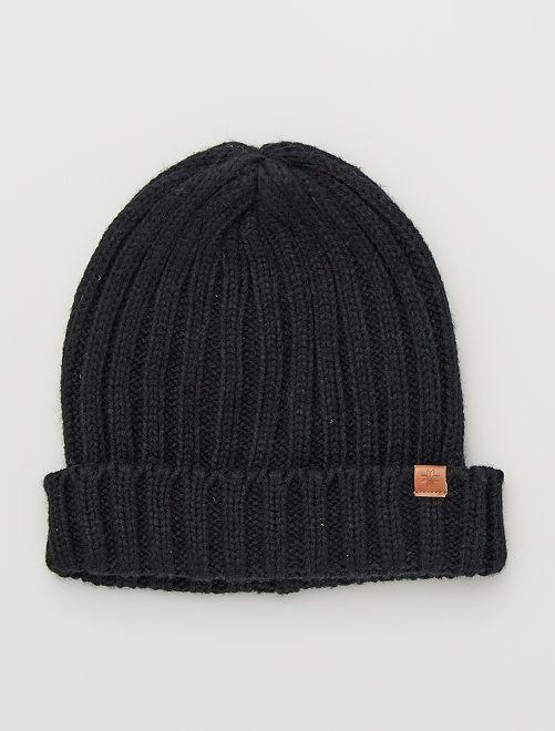 Bonnet côtelé                                                     noir