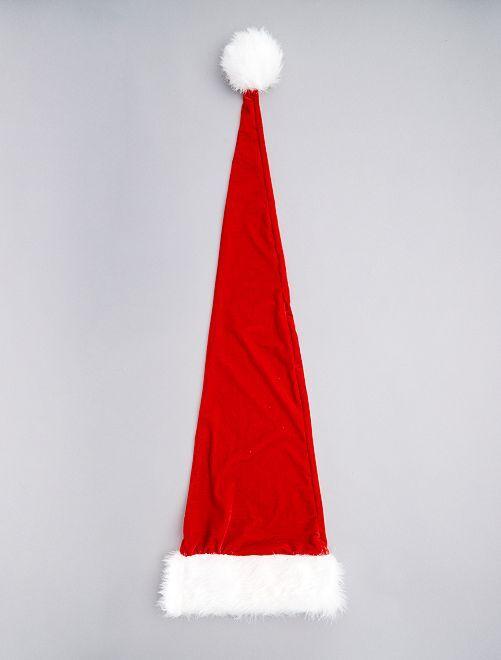 Bonnet de Noël extra long                             rouge/blanc