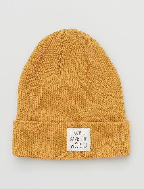 Bonnet éco-conçu                                         jaune ocre