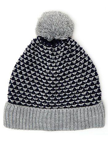 Bonnet en maille bicolore - Kiabi