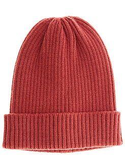 Echarpe, gants, bonnet - Bonnet en maille côtelée - Kiabi