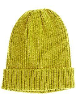 Bonnet en maille côtelée - Kiabi