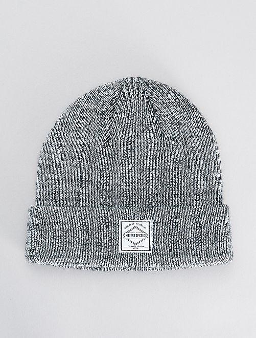 Bonnet en maille                                         gris
