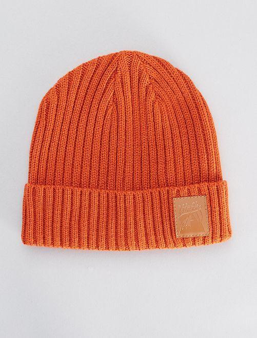 Bonnet en maille                                         orange