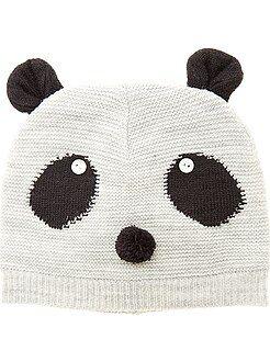 Accessoire - Bonnet en tricot 'Panda'