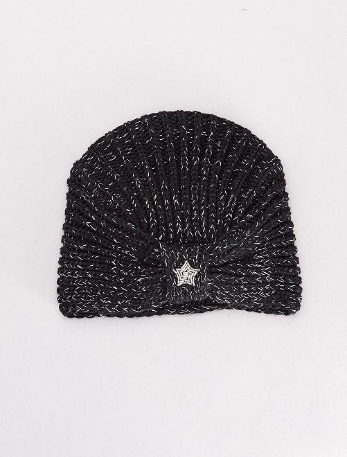 Bonnet forme turban                                         noir