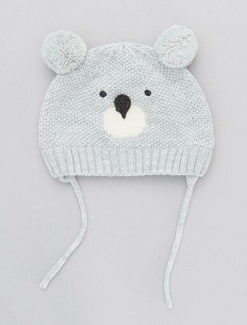 Bonnet ludique en tricot                                             gris