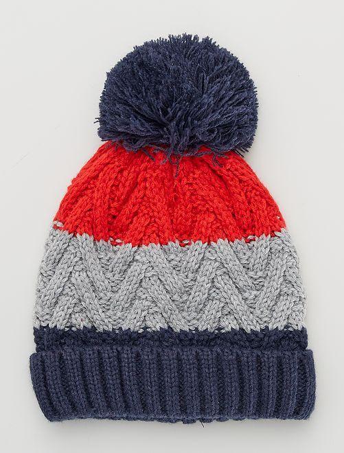 Bonnet maille tricot                                         rouge