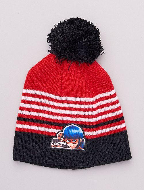 Bonnet 'Miraculous'                                         rouge/noir