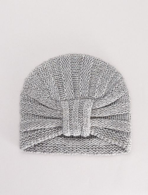 Bonnet turban pailleté                                         gris