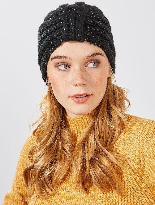 Bonnet turban pailleté                                         noir