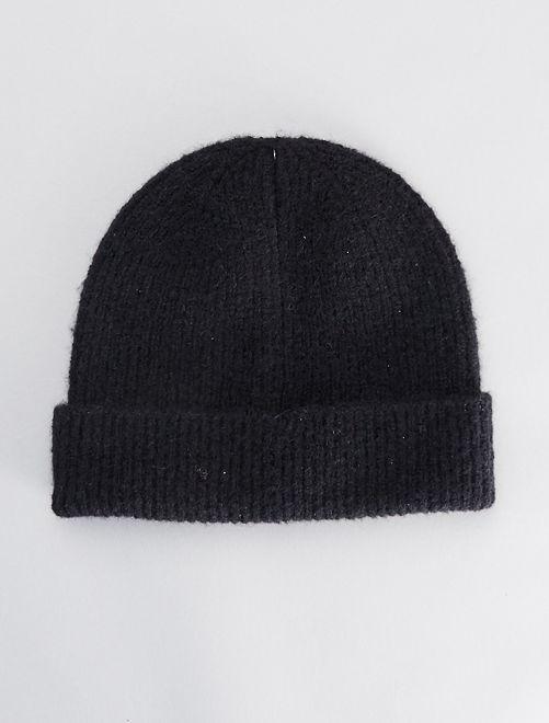 Bonnet uni                                                                                                     noir