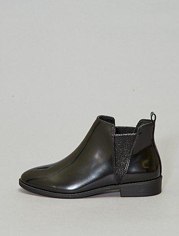 Boots à clous style chelsea brillantes