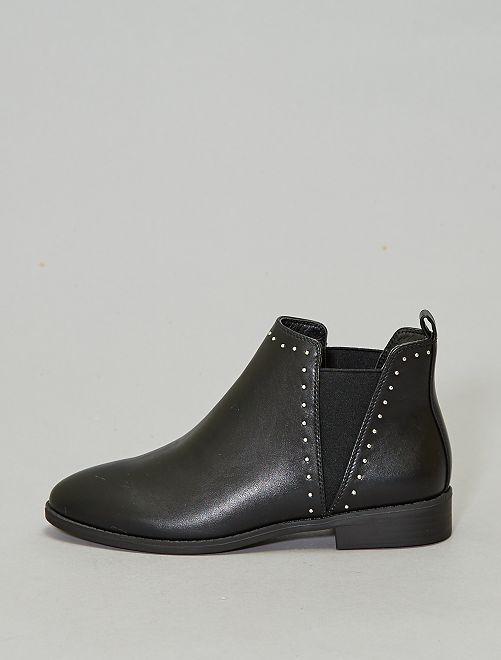 Boots à clous style chelsea                                         noir Chaussures