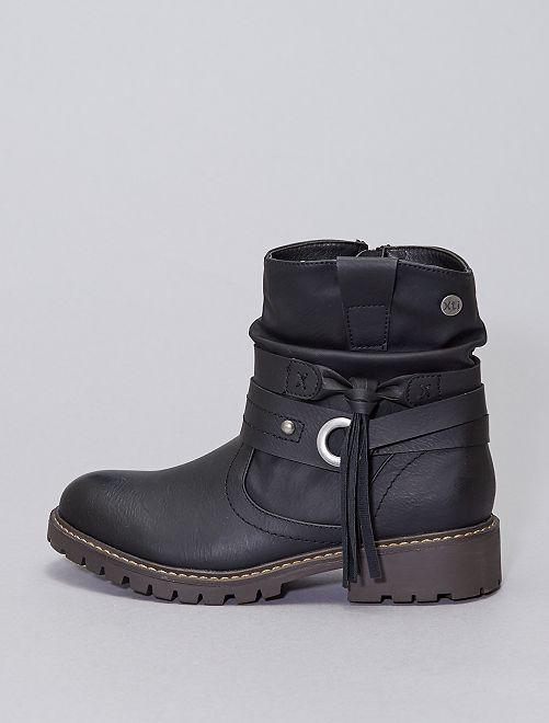 Boots à lanières                             noir