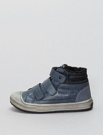 Boots à scratchs en simili