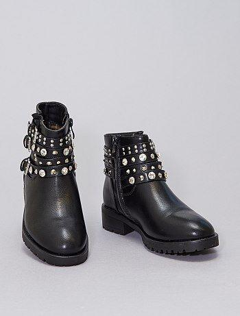 Boots à strass et clous