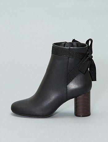 Boots à talon rond
