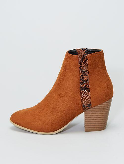 Boots à talons                             brun