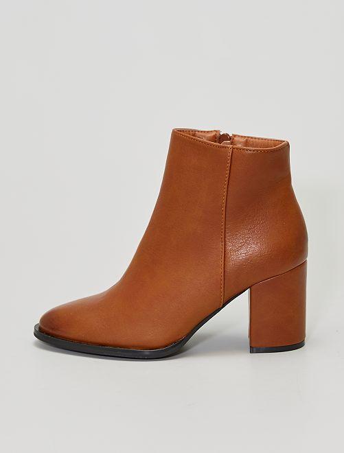 Boots à talons                             camel