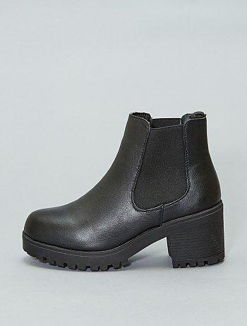 Soldes boots femme, bottines plates ou à talons pour femme pas cher ... 5f7d872df789