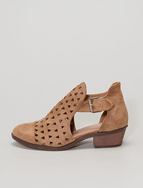 Boots ajourées                             marron
