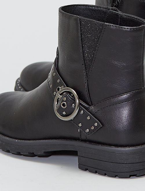 Boots avec brides                             noir