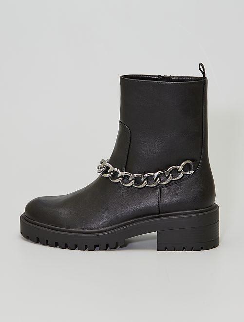 Boots avec chaînes                             noir