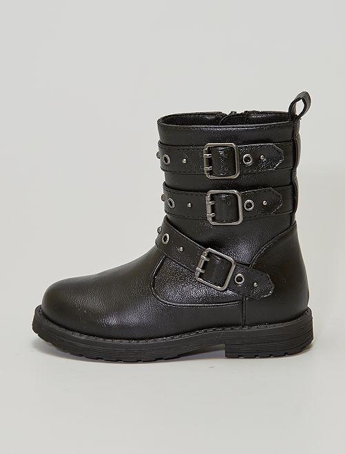 Boots avec sangles                             noir