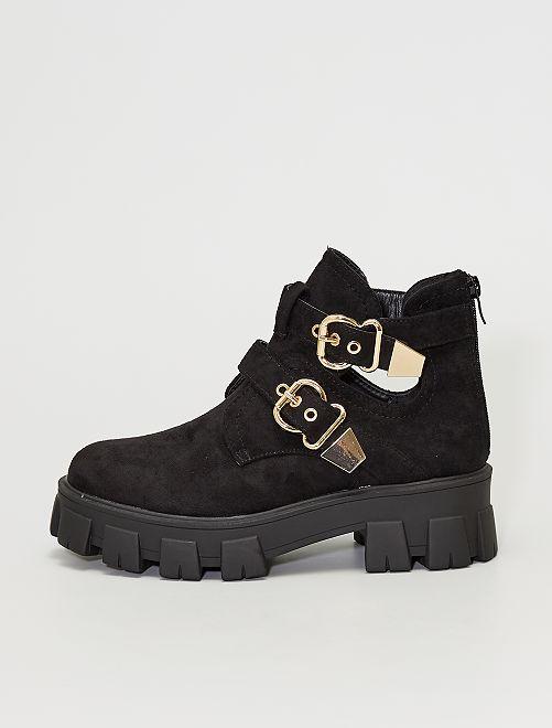 Boots avec semelles épaisses                             noir