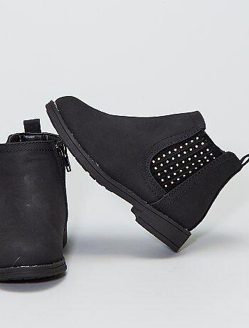 Boots avec soufflets à strass