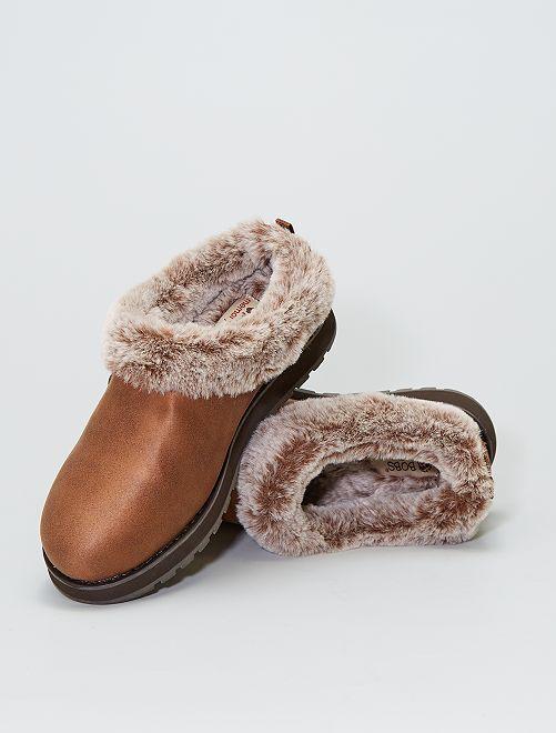 Boots basses fourrées                             BEIGE