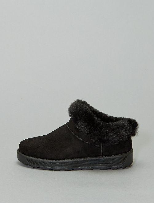 Boots basses fourrées                             noir