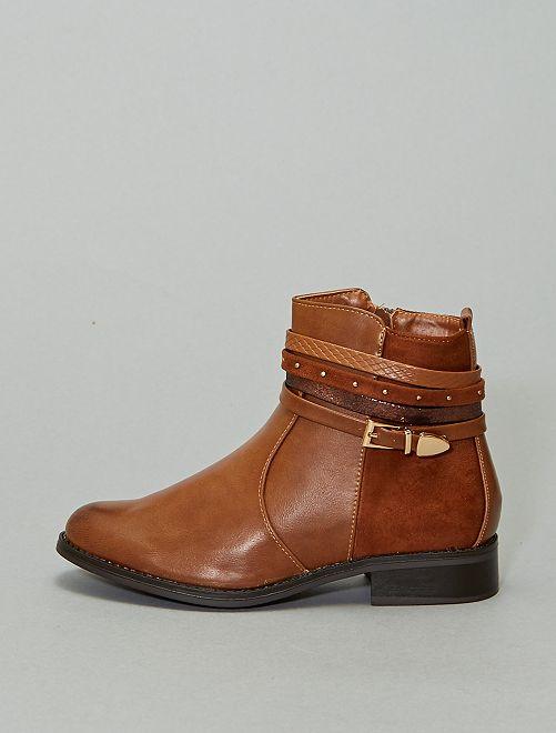Boots bi-matière                             camel