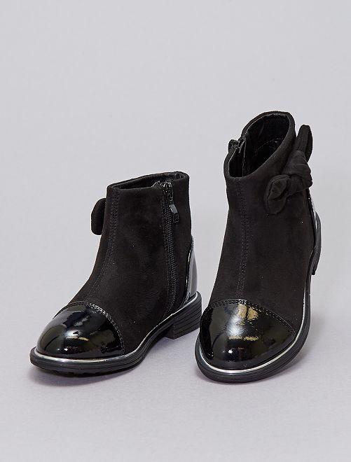 Boots bi-matière                             noir