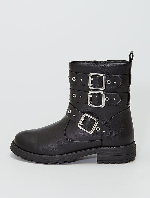 Boots 'biker'                             noir