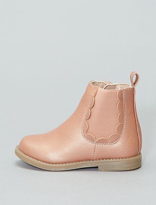 Boots brillantes                             rose Fille