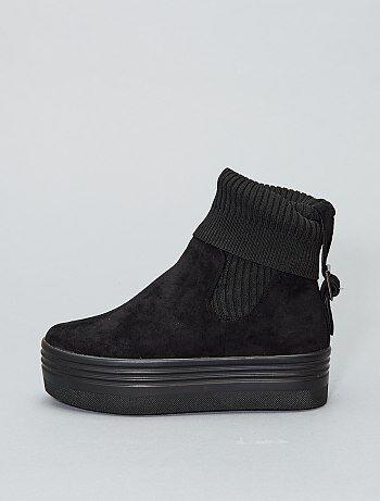 Boots chaussettes à plateforme