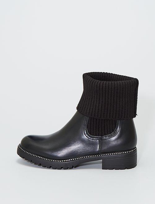 Boots chaussettes                             noir