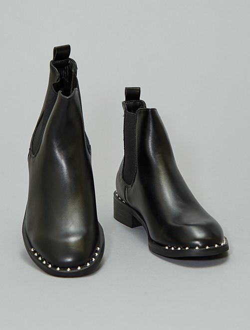 Boots chelsea cloutées                             noir