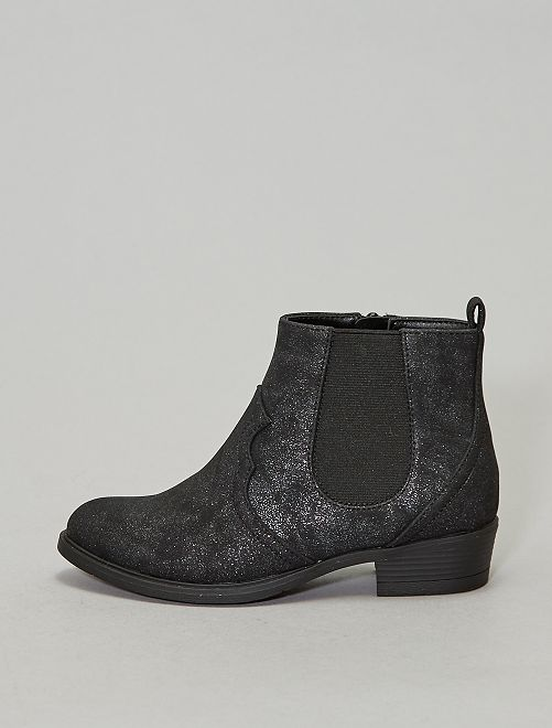 Boots chelsea western                             noir Chaussures