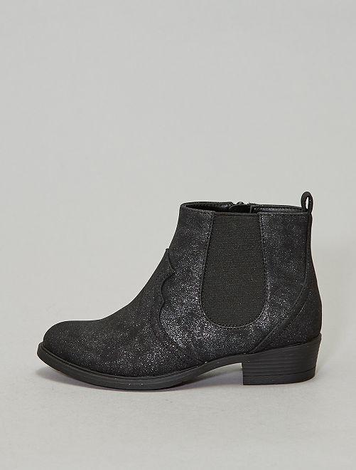 Boots chelsea western                             noir