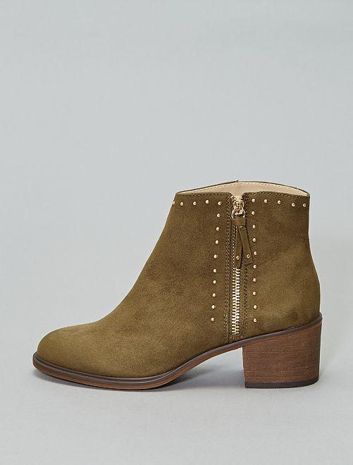 Boots cloutées                                         kaki
