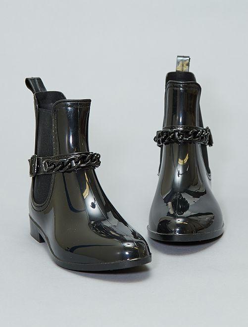 Boots de pluie vernies                             noir Femme