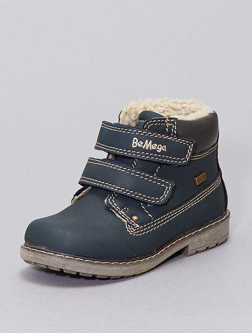 Boots déperlantes fourrées                             bleu navy