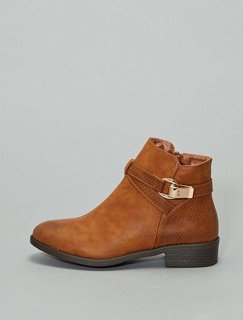 Boots détail serpent                             camel